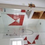 salle de douche abricot